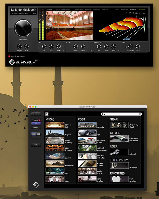 Altiverb convolution reverb plug-in