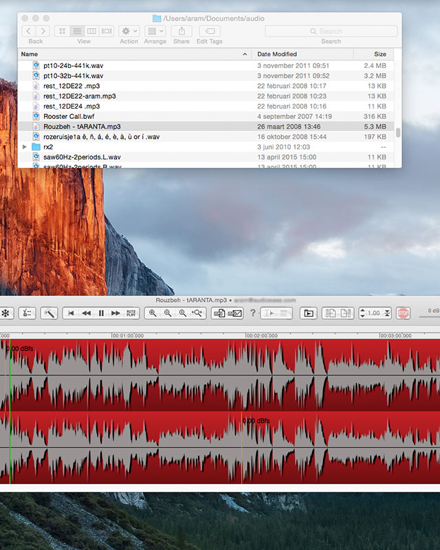 Snapper display and edit audio file right in the mac finder