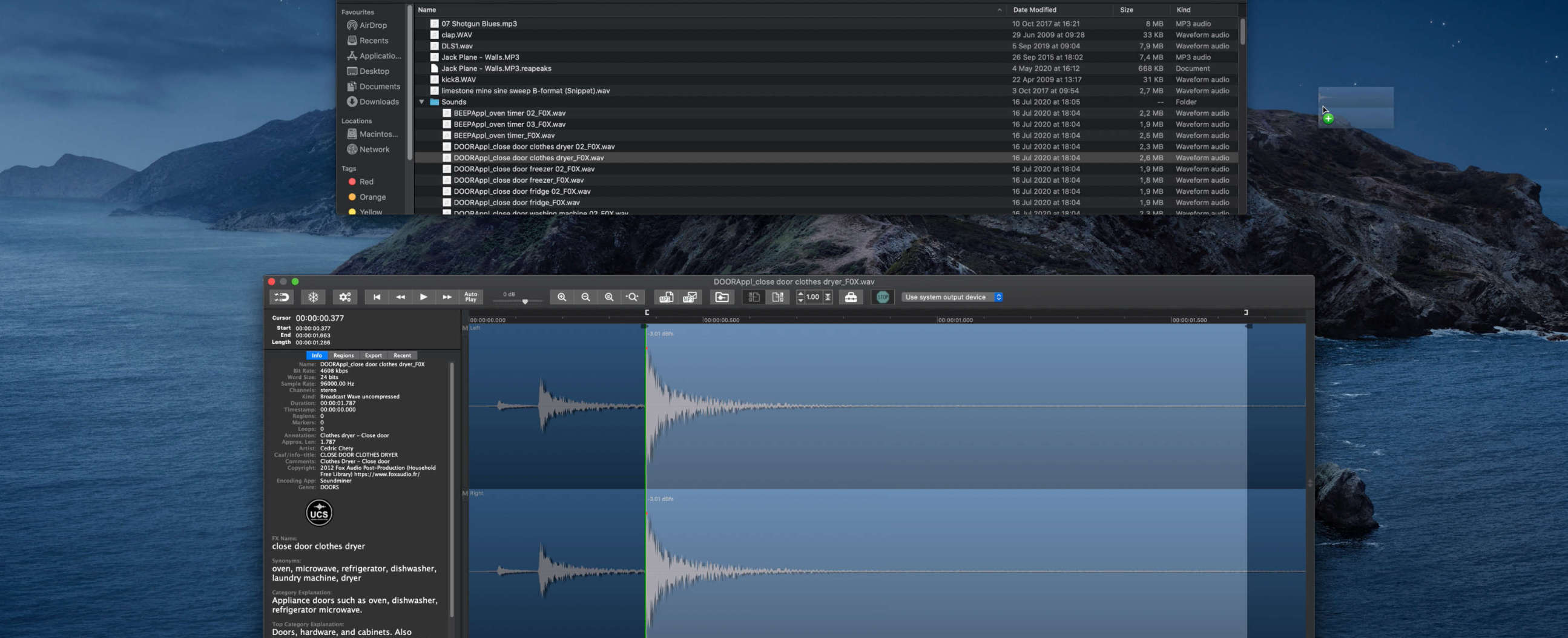 Snapper, view and edit audio file right in the mac finder