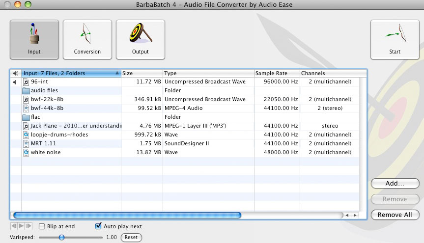 Audio Ease - Barbabatch - professional batch sound file conversion